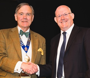 BOS honorary member Dr John Milne with Dr John Muir