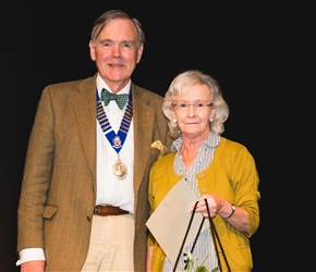 BOS recognition award winner Mrs Ann Wright with Dr John Muir